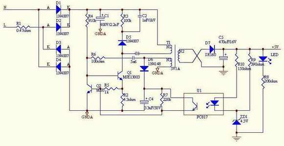 5W开关电源