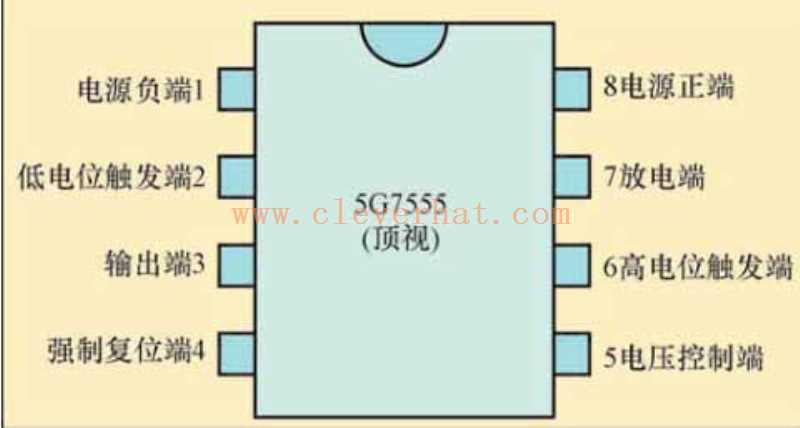 5G7555的引脚排列图