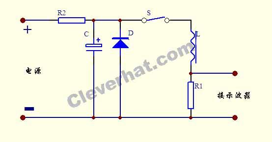用示波器测量电感饱和电流SCH