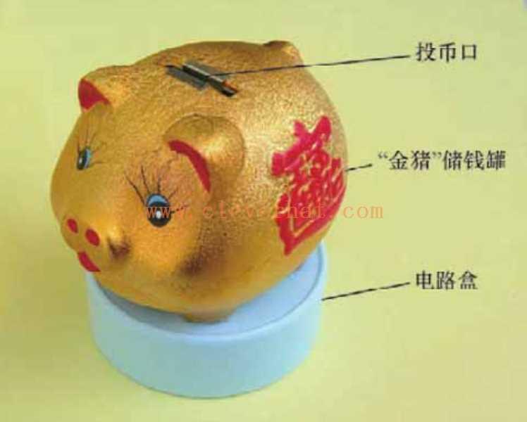 """会说话的""""金猪""""储钱罐实物外形图"""