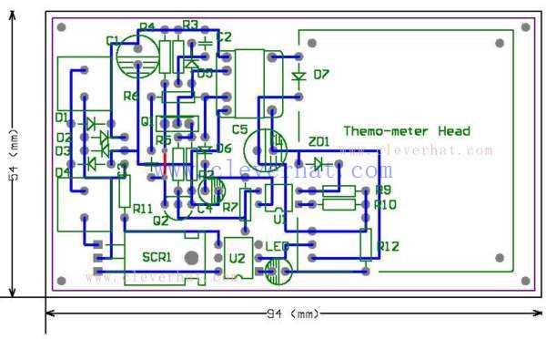 数字温控器PCB图