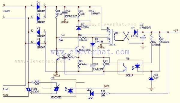 数字温控器原理图